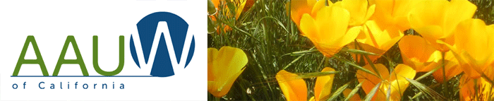 AAUW of Caliornia logo and web banner